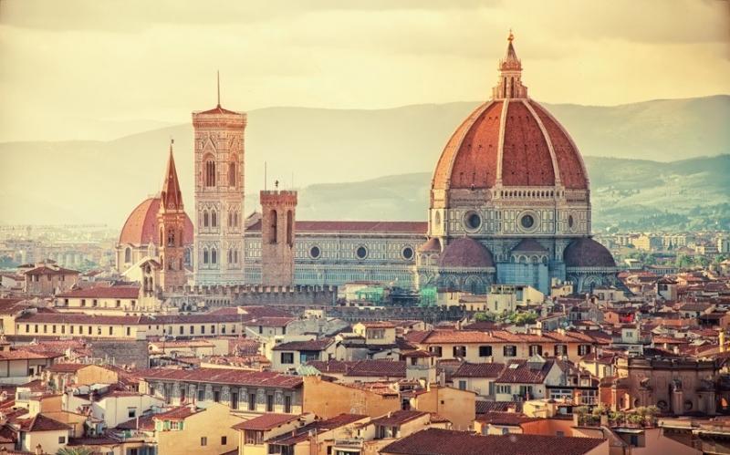 Công trình kiến trúc cổ kính ở Florence.