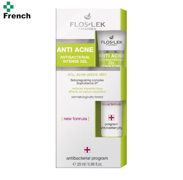 Floslek anti acne antibacterial intense gel 20ml