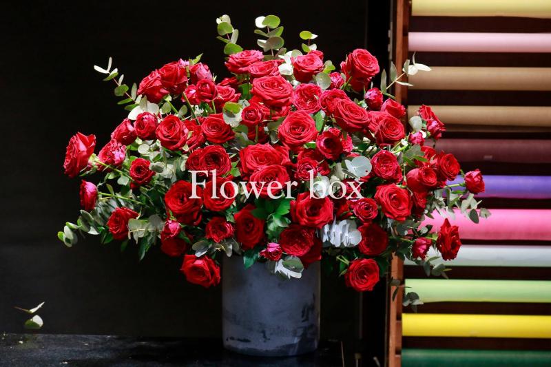 Bởi sự phá vỡ phong cách truyền thống.. bó hoa của Flower box mang trong mình nét độc đáo riêng