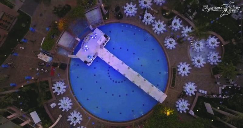 Một cảnh quay đám cưới bằng Flycam của Flycam Sky.