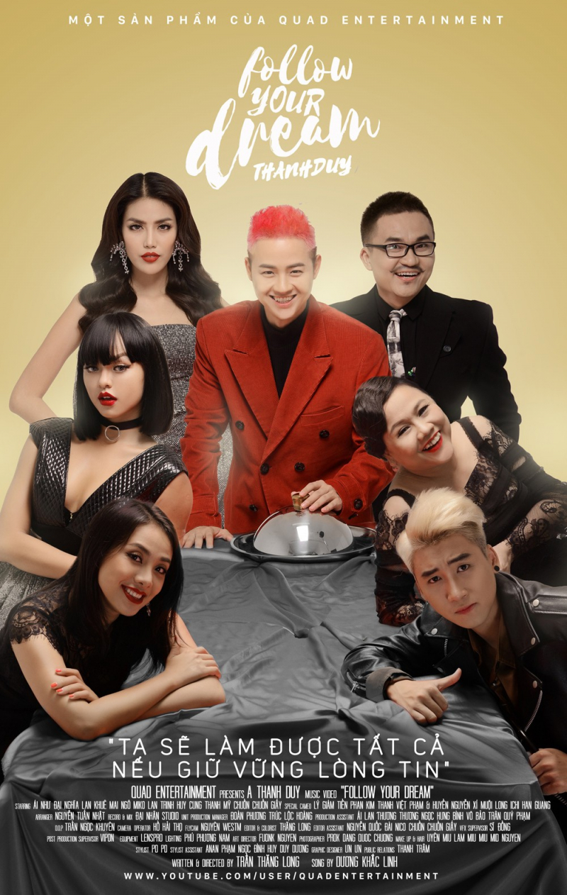 Poster và thông điệp chính của ca khúc 'Follow your dream' của Thanh Duy Idol