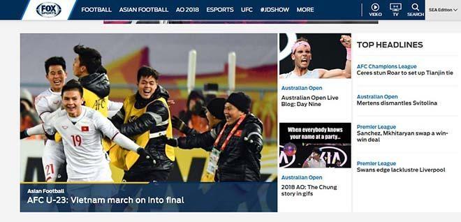 Fox Sports đưa tin về chiến thắng của U23 Việt Nam