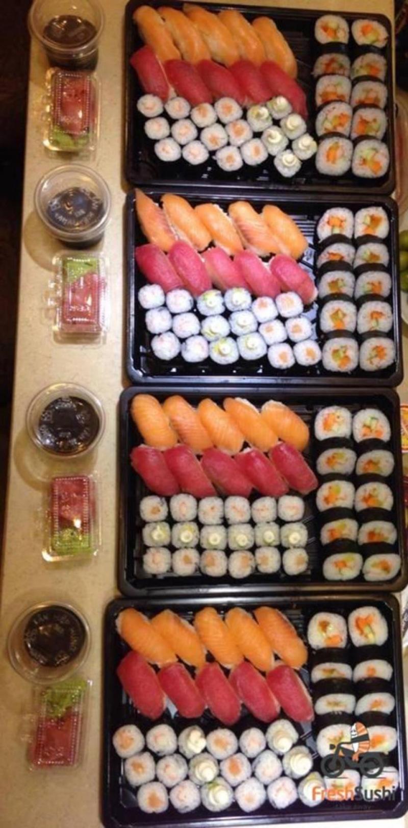 Các phần sushi