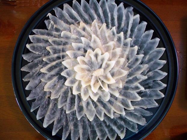 Fugu sashimi cá nóc