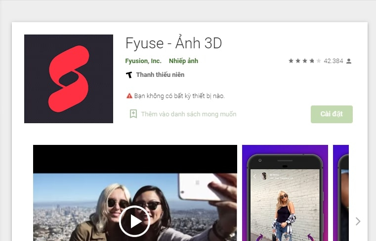 Fyuse - Ảnh 3D (android)