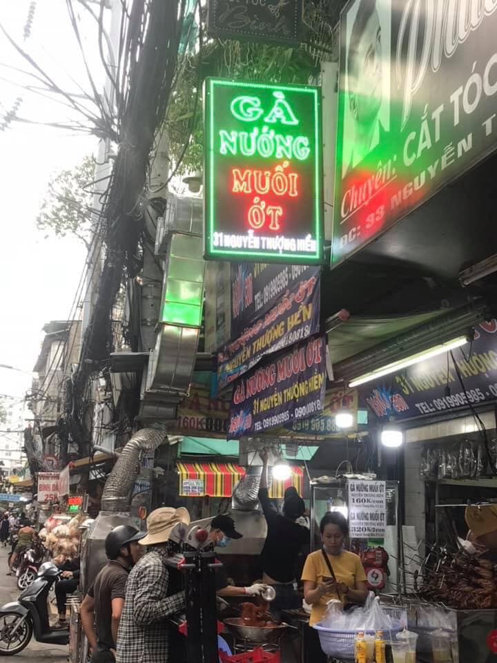 Gà nướng muối ớt Nguyễn Thượng Hiền