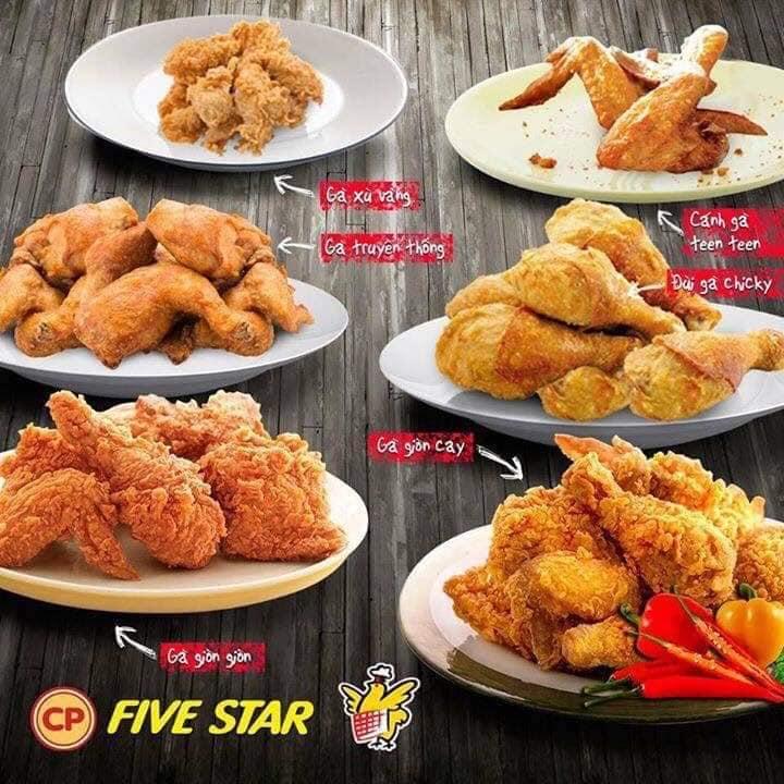 Món gà tại Five Star