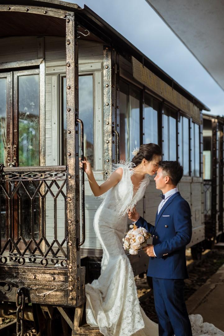 Ảnh cưới tại nhà ga Đà Lạt