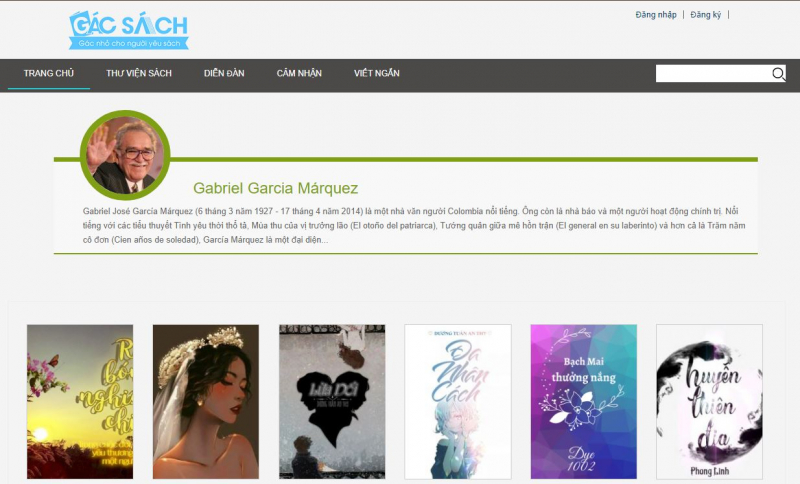 Website của Gác sách