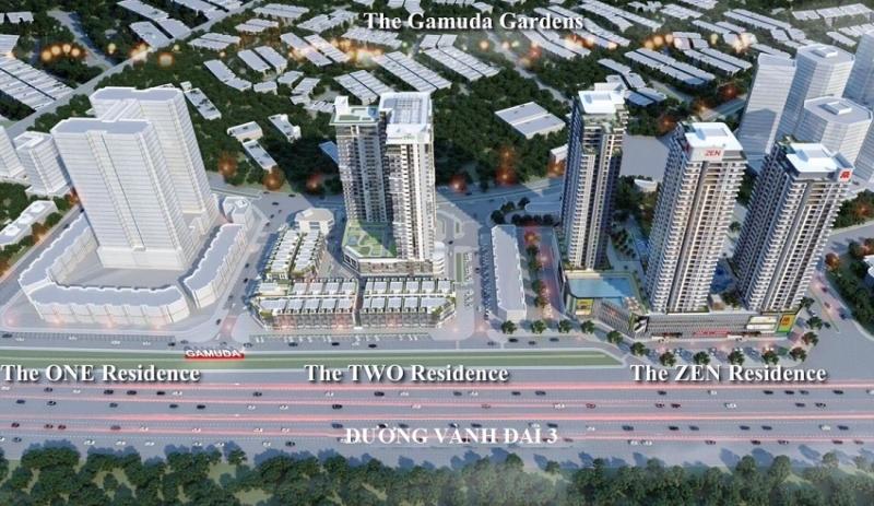 Phối cảnh toàn thể dự án Gamuda Gardens