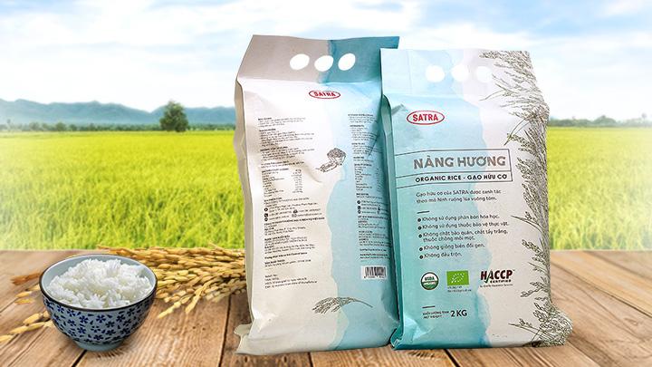 Gạo hữu cơ Nàng Hương.
