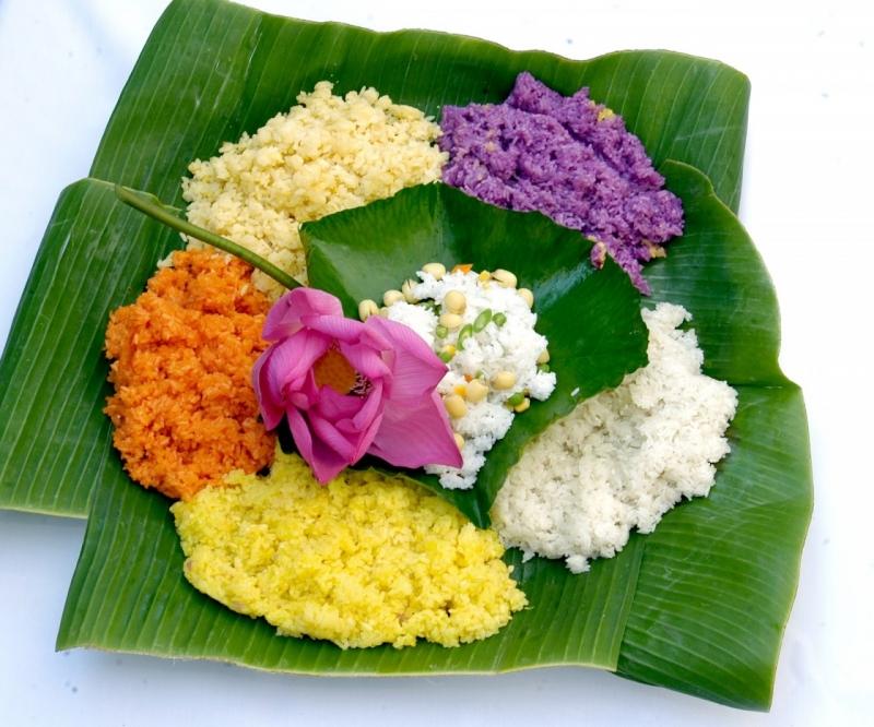 Món xôi ngũ sắc cực kì hấp dẫn và thơm ngon từ gạo nếp Tú Lệ