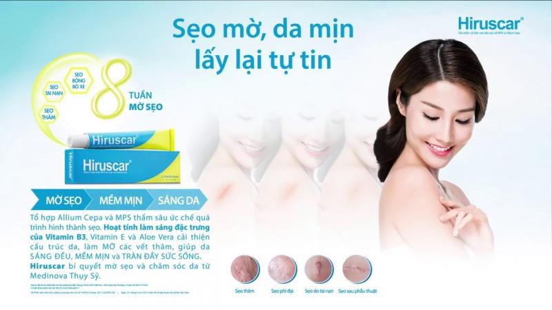 Gel cải thiện sẹo Hiruscar 5g