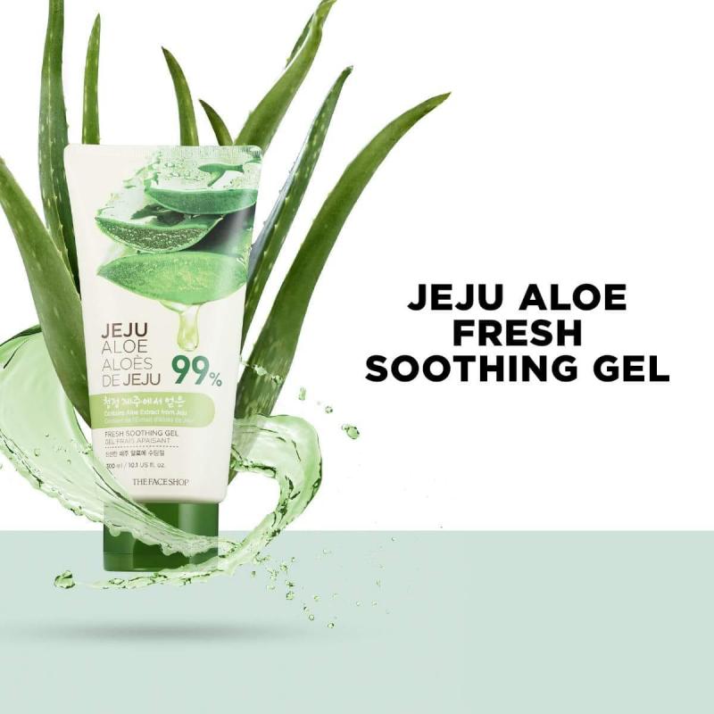 Gel dưỡng da nha đam mát da Jeju Aloe Fresh Soothing Gel Tube