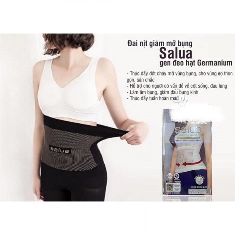Gen nịt bụng Salua được làm bằng chất liệu cao cấp có hả năng đàn hồi và thấm hút mồ hôi nhanh.
