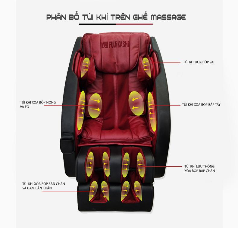 Ghế massage toàn thân Fujikashi F82