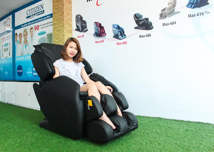Ghế massage toàn thân Maxcare Max-616 Plus massage chuyên sâu như một nghệ nhân thực thụ