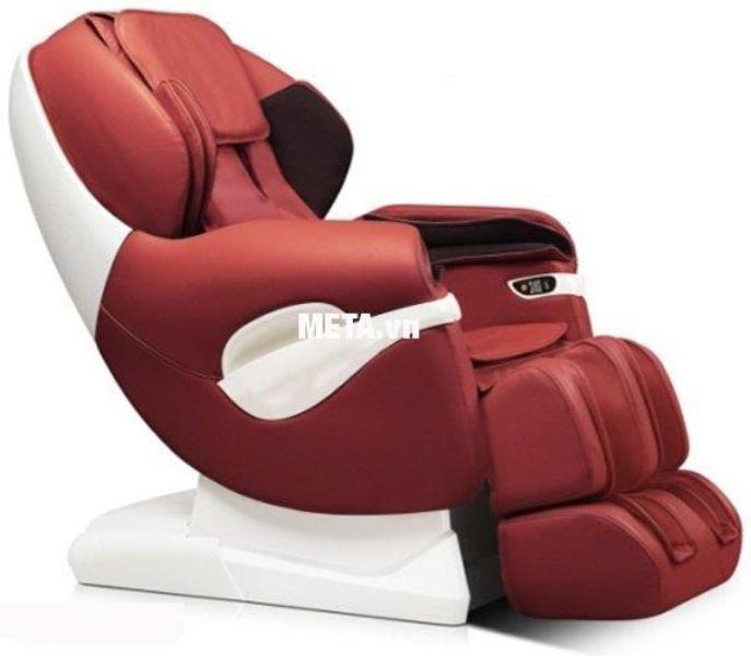 Ghế massage toàn thân Maxcare Max-686 màu đỏ đô pha trắng hiện đại