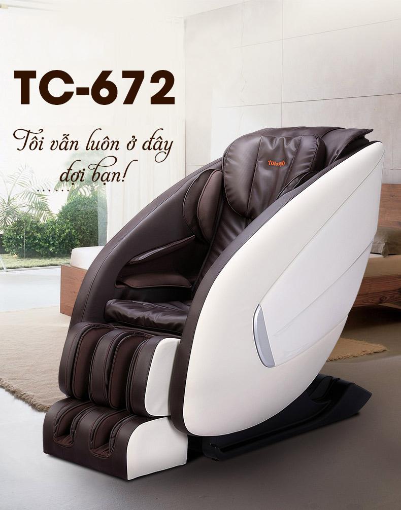 Ghế Massage Tokuyo Nhật TC-672
