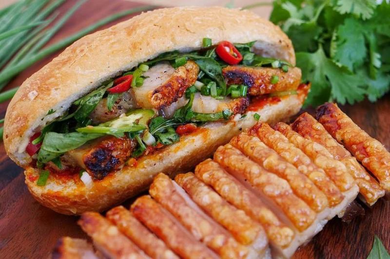 Bánh mì thịt heo quay (Ảnh minh họa)