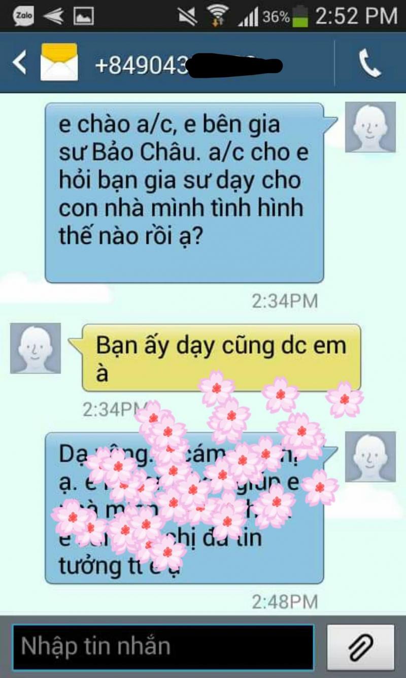 Gia sư Bảo Châu