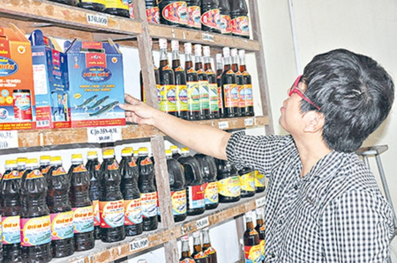 Sản phẩm nước mắm Diêm Điền - Thái Bình