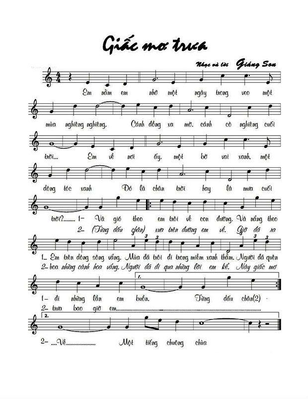 Bài hát Giấc mơ trưa