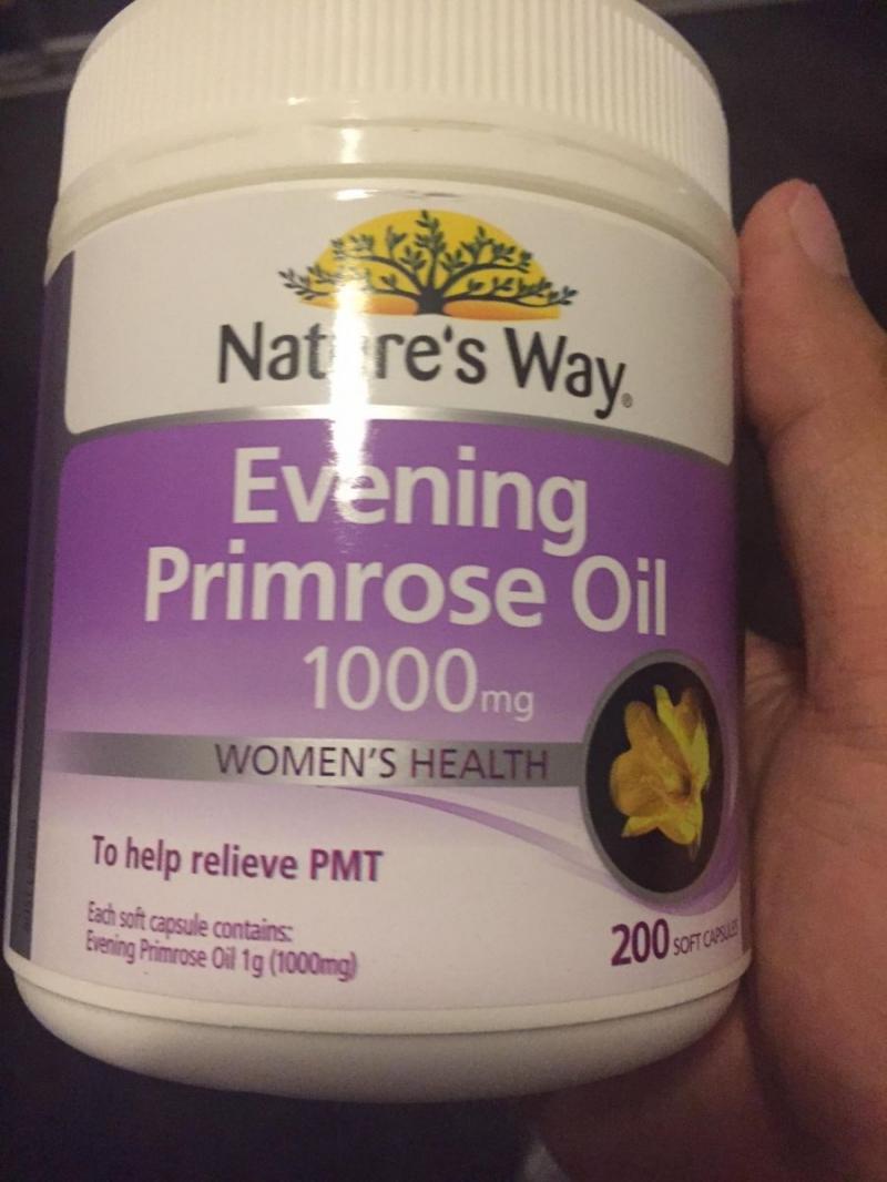 Tinh dầu hoa Anh Thảo Evening Primrose Oil Nature's way 200 giúp giảm cân hiệu quả, an toàn