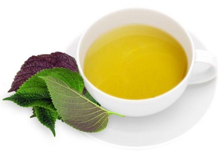 Lá tía tô có tác dụng giúp giảm bớt sự khó chịu trong dạ dày và ruột.