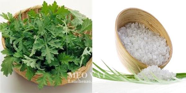 Phương pháp giảm cân cấp tốc với muối và ngải cứu.