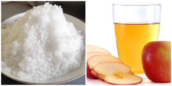 Để giảm cân an toàn hiệu quả thì không thể không kể đến muối và giấm táo.