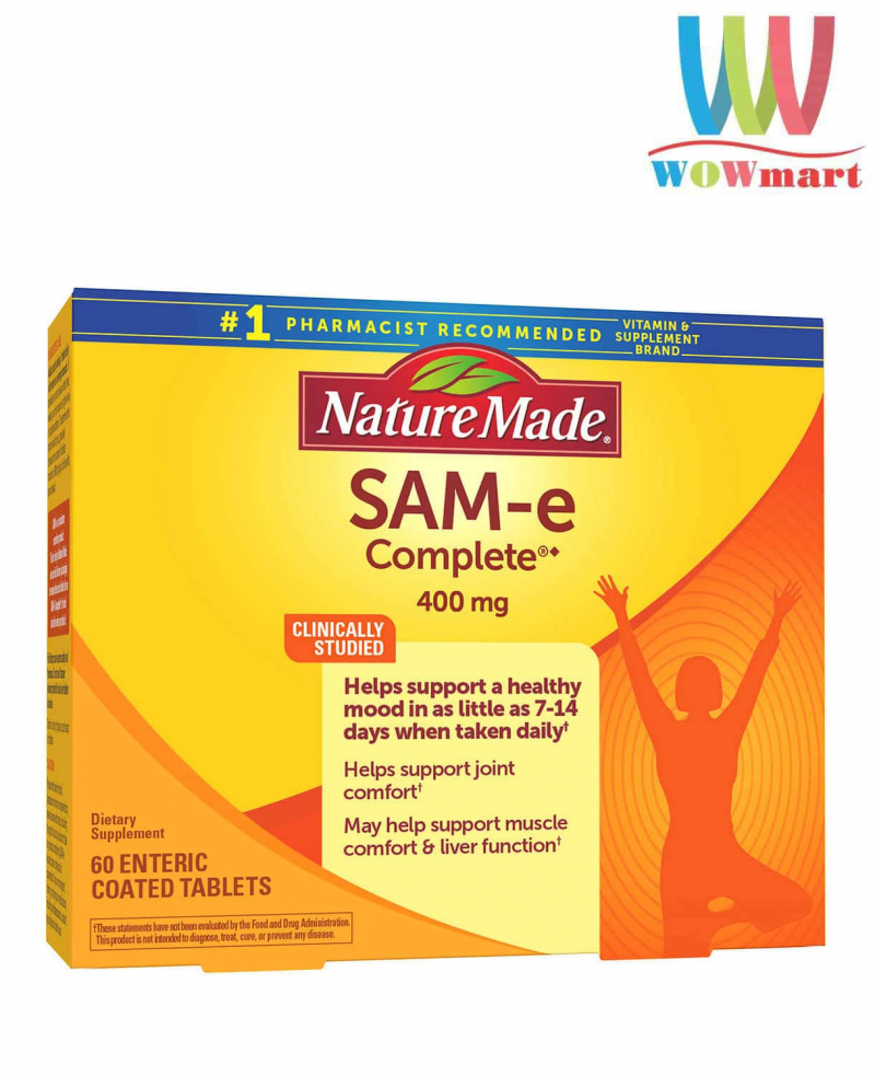 Giảm stress, an thần an toàn Nature Made SAM-e Complete 400mg