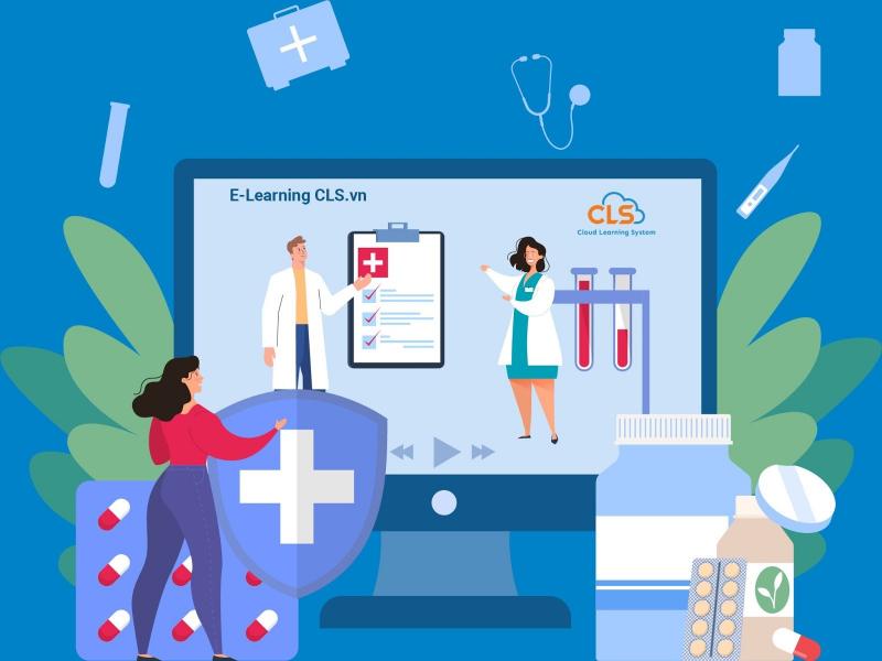 Giảng dạy trực tuyến E-Learning CLS cho ngành dược (Ảnh minh họa)