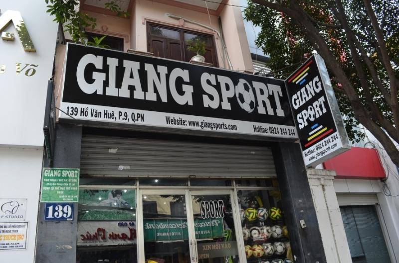 GiangSport ngoài cửa hàng chính ở TP.HCM còn có nhiều cửa hàng ở một số tỉnh thành khác (Nguồn: Sưu tầm)