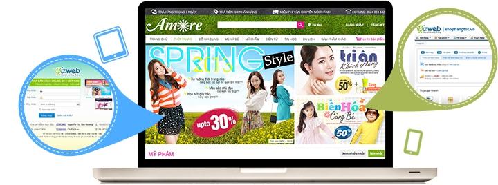 Giao diện gian hàng online phải đẹp, bắt mắt và thân thiện với người mua