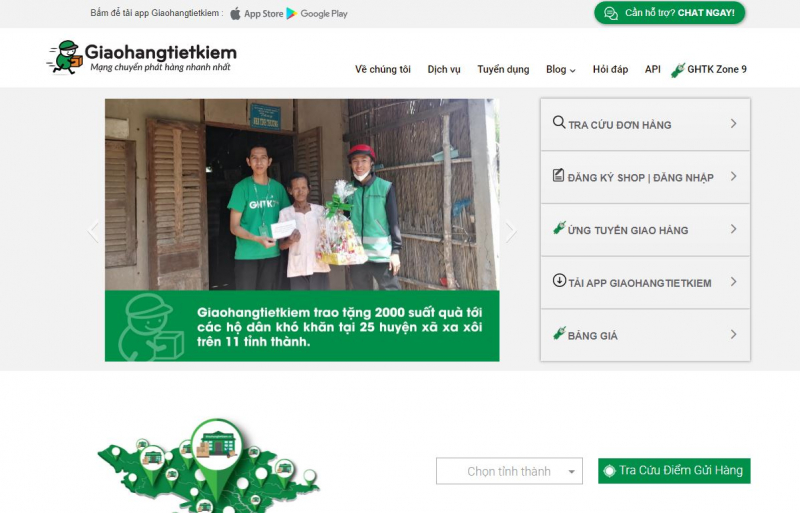 Website của Giao hàng tiết kiệm