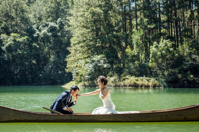 Ảnh cưới tại Giao Hưởng Xanh resort Đà Lạt