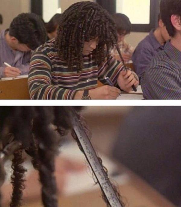 Giấu tài liệu trong tóc