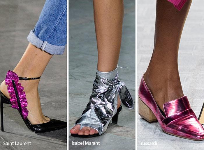 Xu hướng thời trang giày ánh kim