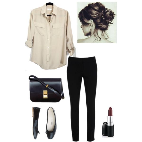 Sự kết hợp phổ biến là áo sơ mi và một chiếc quần jeans vừa giúp bạn nữ tính mà năng động lại thoải mái.