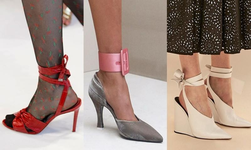 Giày có quai buộc cổ chân mang đến cho người mang một dáng vẻ nữ tính