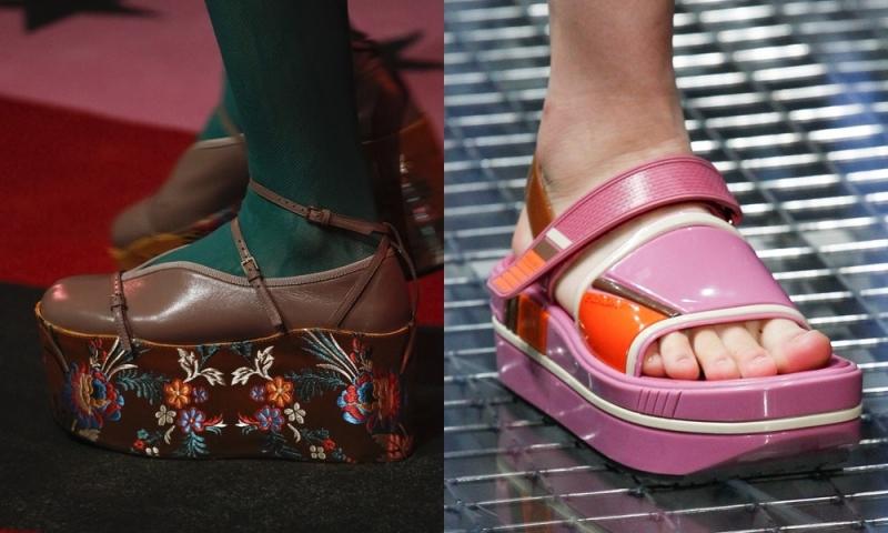 Mốt giày đế cao lấy cảm hứng từ những đôi guốc Nhật Bản