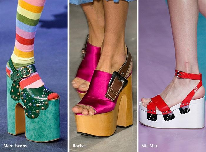 Một trong những xu hướng thời trang giày hot nhất hiện nay là sự trở lại của giày platform