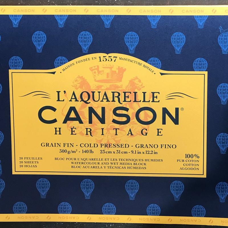 Giấy vẽ màu nước Canson Heritage