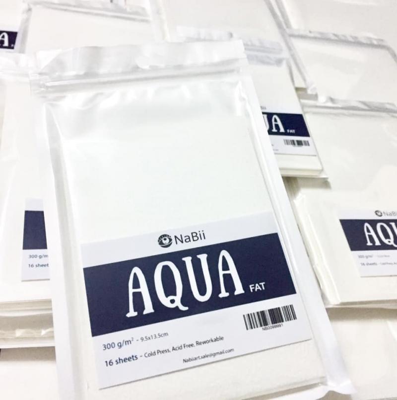 Giấy vẽ màu nước NaBii Aqua Fat
