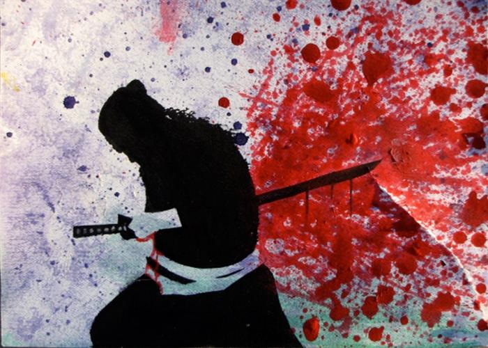 Samurai mổ bụng để bảo vệ khí tiết