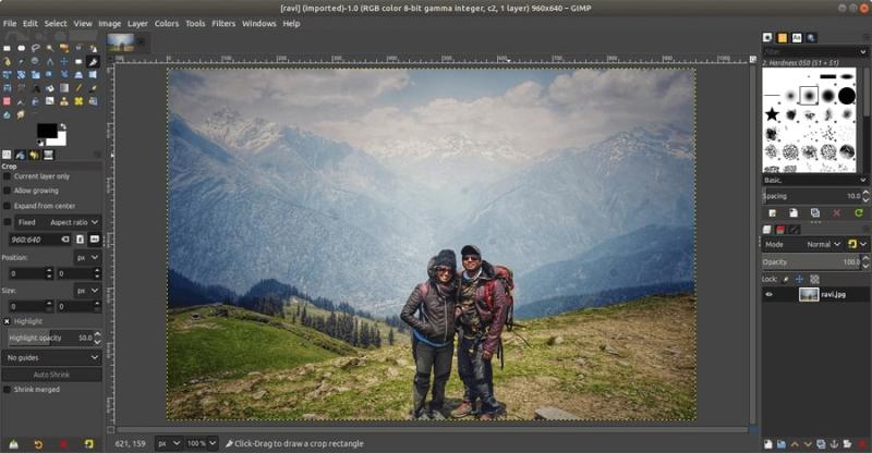 Một màn hình thiết kế của GIMP