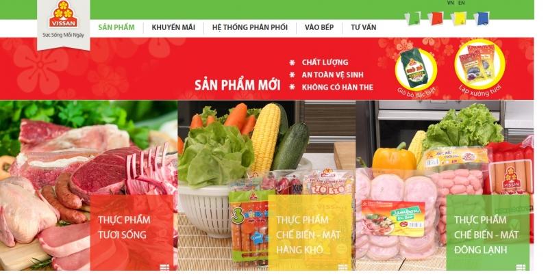 Website bò bò- giò lụa Vissan