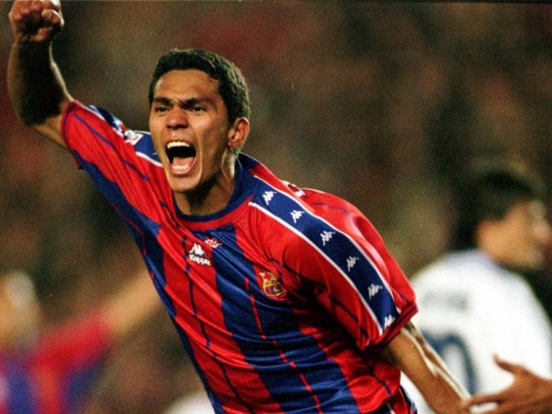Giovanni khi còn thi đấu cho Barca