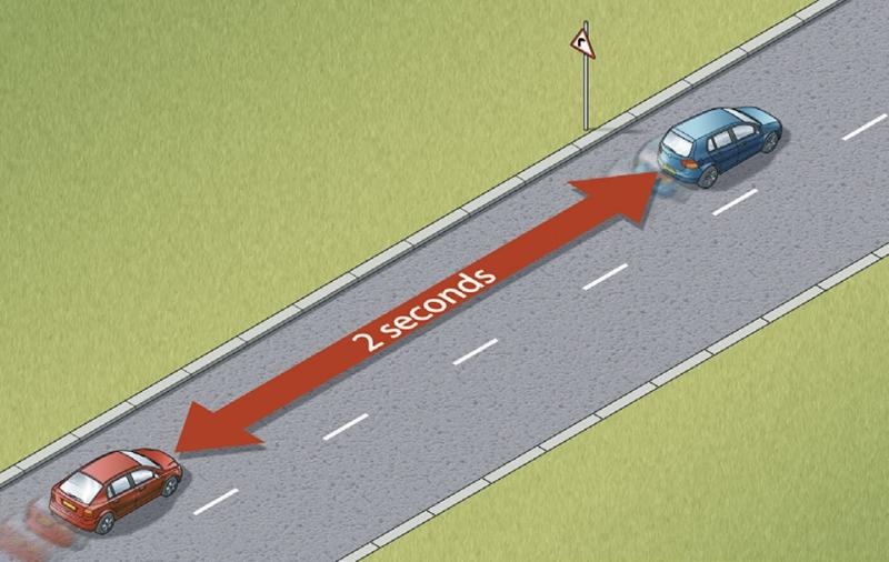 Giữ khoảng cách an toàn với xe đi trước